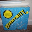 ACRONYMITY Party Board Game NEW But DAMAGED - CHEAP PRICE!