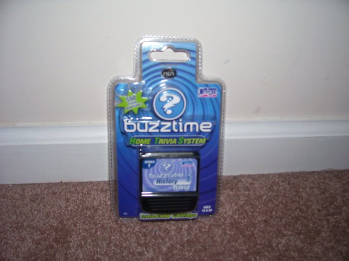 Buzztime HISTORY Trivia Game Cartridge NEW! 550 Questions