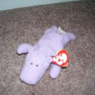 TY TEENIE Beanie Babies HAPPY THE HIPPO Set Of 2! From 1993