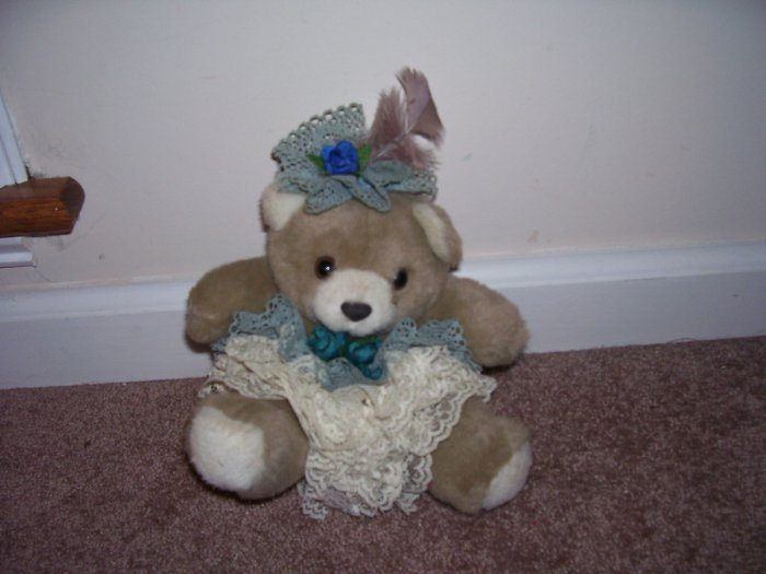AMERICA WEGO #2226 ~ VICTORIAN SITTING BEAR ~ PLUSH EXCELLENT CONDITION! 7 1/2""