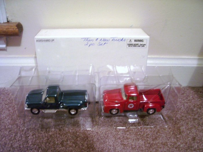 Road Champs * THEN & NOW * 2 FORD DIECAST PICKUP TRUCKS NEW!