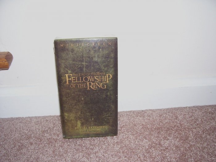 THE LORD OF THE RINGS * WIDESCREEN * THE FELLOWSHIP OF THE RING VHS SPECIAL EXTENDED EDITION NEW!