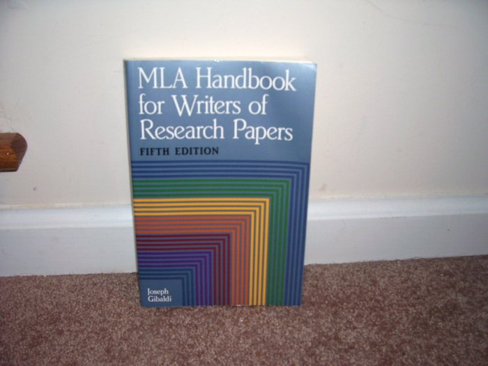MLA HANDBOOK For WRITERS OF RESEARCH PAPERS Book 5th Edition By Joseph Gibaldi LIKE NEW