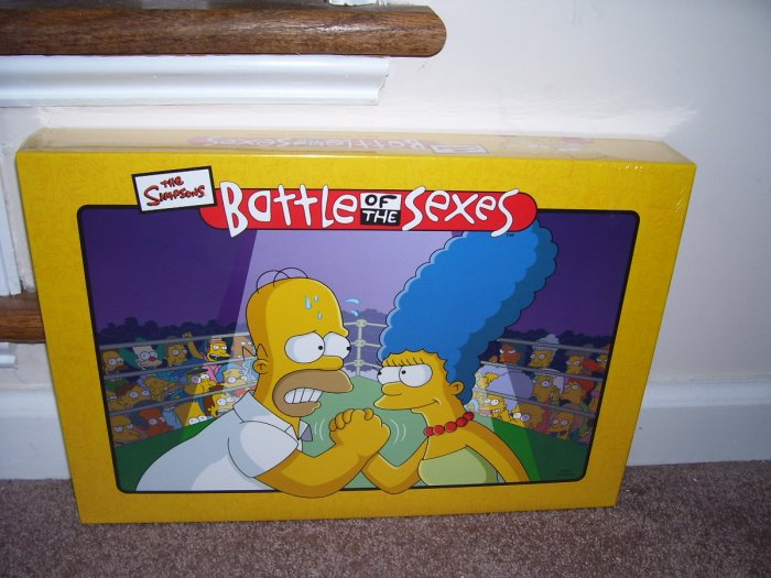 THE SIMPSONS BATTLE OF THE SEXES Board Game NEW! GREAT FOR PARTIES!