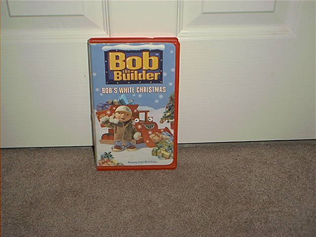 Bob The Builder BOB'S WHITE CHRISTMAS VHS Video in RED CLAMSHELL CASE!
