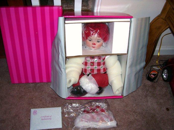 "Marie Osmond HUGGS MISTLE HO HO HO Porcelain Doll NEW IN BOX! 26"" LE 6000"
