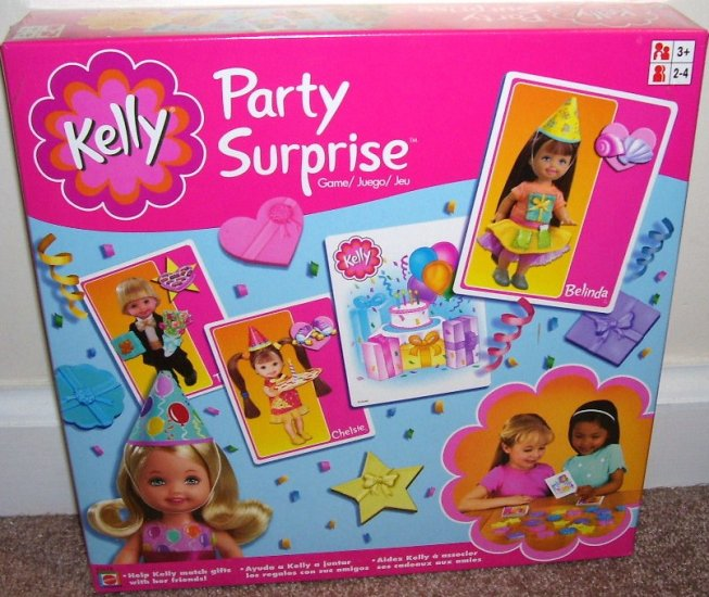 KELLY PARTY SURPRISE GAME NEW! 2002 * HELP KELLY MATCH GIFTS TO FRIENDS!