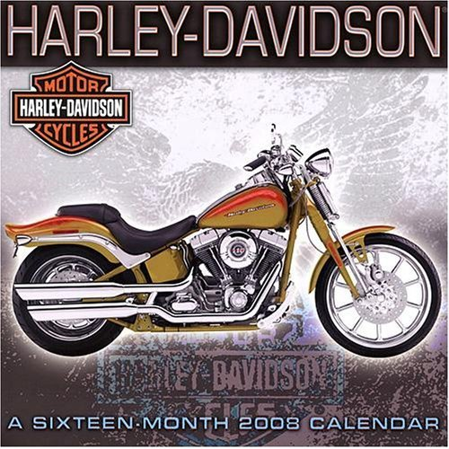 HARLEY DAVIDSON 2008 * 16 MONTH * WALL CALENDAR NEW!