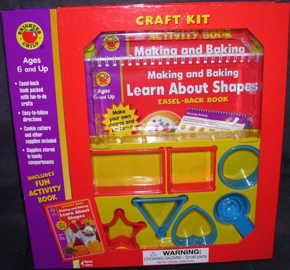 Making and Baking LEARN ABOUT SHAPES KIDS CRAFT KIT * NEW *