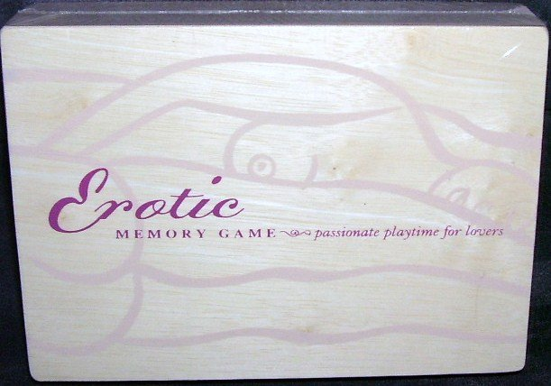 EROTIC MEMORY TILE GAME * NEW IN WOODEN BOX! * RARE!