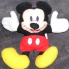 Disney APPLAUSE * MICKEY MOUSE * BEANIE PLUSH EXC COND! 7""