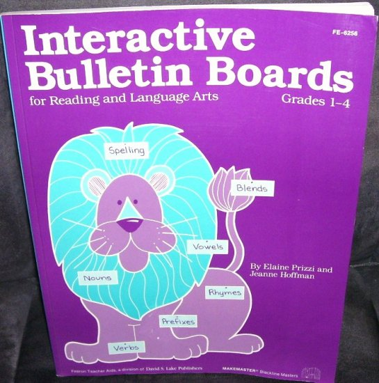 INTERACTIVE BULLETIN BOARDS BOOK * GRADES 1-4 * 1984 UNUSED!