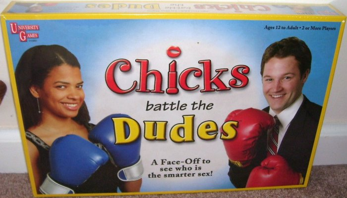 CHICKS BATTLE THE DUDES Board Game NEW!