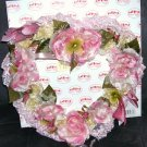 "Show Stoppers * HEART WARMING WREATH * NEW IN BOX! 13 1/2"" x 13 1/2"" HTF!"