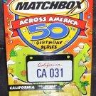 Matchbox Across America * CALIFORNIA * 1955 CHEVROLET BEL AIR CONVERTIBLE NEW! 2001