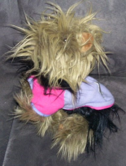 BATTAT * YORKSHIRE TERRIER * YORKIE PLUSH DOG * DRESSED *