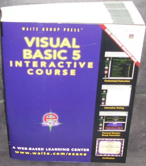 VISUAL BASIC 5 INTERACTIVE COURSE BOOK & CD * NEW *