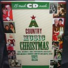 A COUNTRY MUSIC CHRISTMAS Book + 15 TRACK CD! NEW! HC DJ FIRST EDITION!