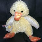 "Commonwealth DUCK Sparkly Plush w/Flower and Butterfly 11"" Sitting"