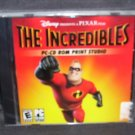 Disney THE INCREDIBLES PC CD-ROM PRINT STUDIO NEW Sealed