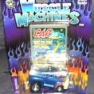 Muscle Machines '56 FORD PICKUP Truck BLUE w/Orange & Yellow Flames 1:64 NEW