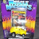 Muscle Machines '41 WILLYS COUPE Yellow Diecast 1:64 NEW 2001