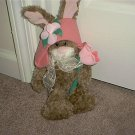 "Gibson Greetings BUNNY WITH HAT Plush 1998 12 1/2"" Tall"