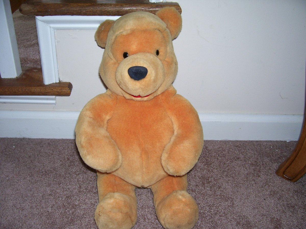 "Disney Winnie the Pooh Large Plush 14"" Sitting"