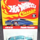 Hot Wheels Classics PURPLE PASSION Blue w/Yellow Flames RED LINE NEW Series 1 #20 of 25