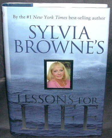 Sylvia Browne LESSONS FOR LIFE Book NEW! Hardcover with DJ