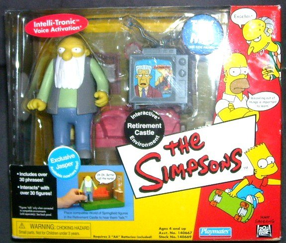 THE SIMPSONS * RETIREMENT CASTLE * INTERACTIVE ENVIRONMENT PLAYSET NEW! 2002