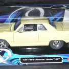 Maisto 1965 Chevrolet Malibu SS CREAM Diecast Car NEW! 1:24 Scale