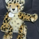 "Build A Bear CHEETAH World Wildlife Fund Series Plush 2007 12"" Sitting"