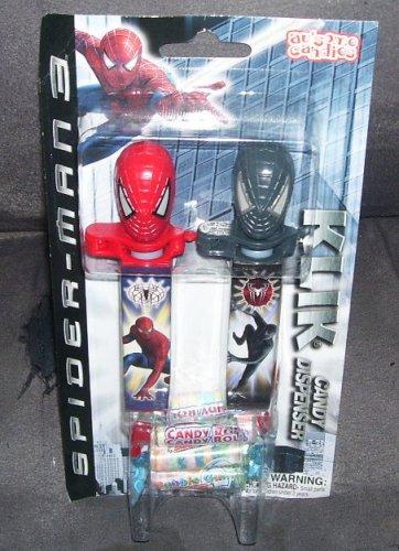 SPIDER-MAN 3 KLIK Candy Dispenser 2 Pack NEW! 2007