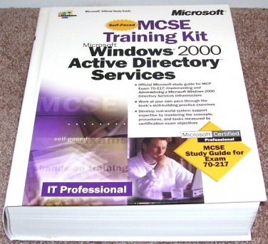 Self Paced MCSE Training Kit Windows 2000 Active Directory Svcs Book H/C NEW!