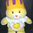 """Care Bears KING FUNSHINE Singing Bear Plush 15"""" From 2004"""