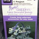 View N Do FABRIC DECORATED BASKETS Bow Dazzlers Project VHS NEW! 1991
