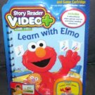 Story Reader Video+ LEARN WITH ELMO Book & Cartridge NEW!