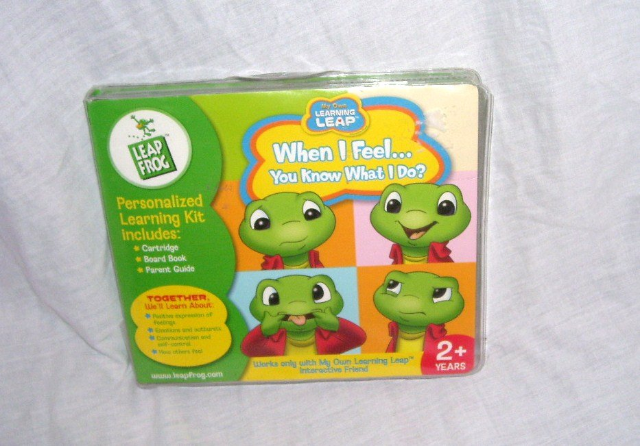 LeapFrog My Own Learning Leap WHEN I FEEL YOU KNOW WHAT I DO? Book & Cartridge Set NEW!