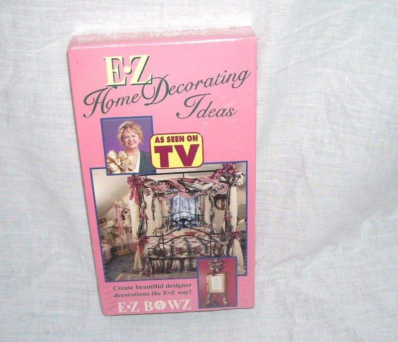 E Z HOME DECORATING IDEAS ~VHS VIDEO~ FOR YOUR E Z BOWMAKER MACHINE NEW!