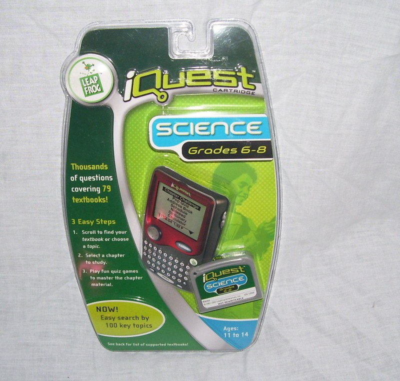 Leap Frog IQUEST SCIENCE CARTRIDGE GRADES 6-8 NEW! THOUSANDS OF QUESTIONS!