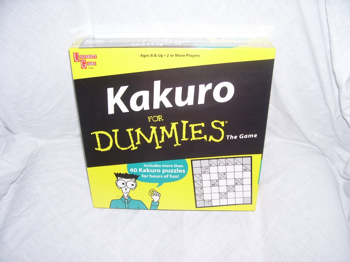KAKURO FOR DUMMIES THE GAME ~BRAND NEW!~ 40+ PUZZLES!