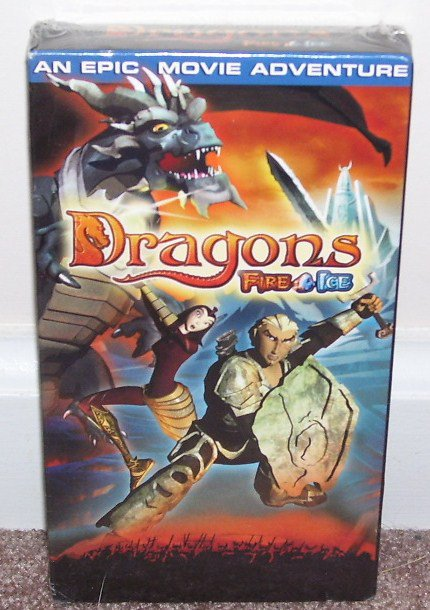 DRAGONS FIRE & ICE Animated Fantasy VHS VIDEO NEW & SEALED! 2004