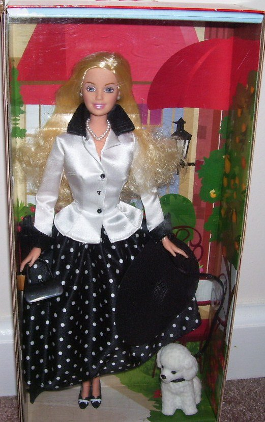 SPECIAL EDITION BARBIE * TALK OF THE TOWN * DOLL NIB! AVON EXCLUSIVE w/STAND!