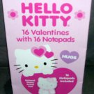 HELLO KITTY - 16 Valentines with 16 Notepads NEW!