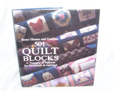 501 QUILT BLOCKS A Treasury of Patterns for Patchwork & Applique Book NEW!