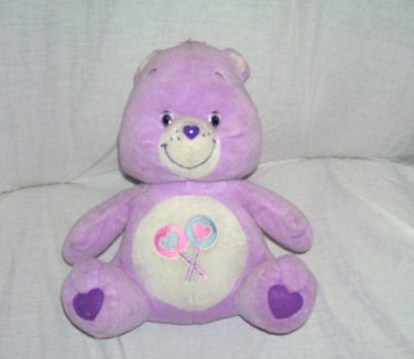 "Care Bears SHARE BEAR Plush by NANCO 11"" sitting From 2003"