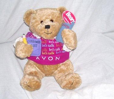 LET'S TALK AVON * GABBIGAIL * Teddy Bear Vintage Plush From 1990s w/tag