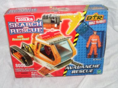 Tonka Search and Rescue BTR AVALANCHE RESCUE Ski Patrol Building Set NEW! #8006
