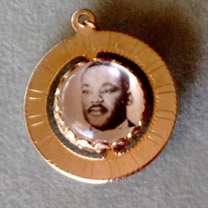 Globe Spinner Charm Bobby Kennedy-Martin Luther King Vintage